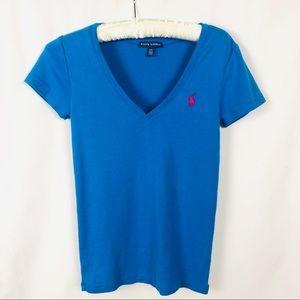 Ralph Lauren V-Neck Short Sleeve T-Shirt M